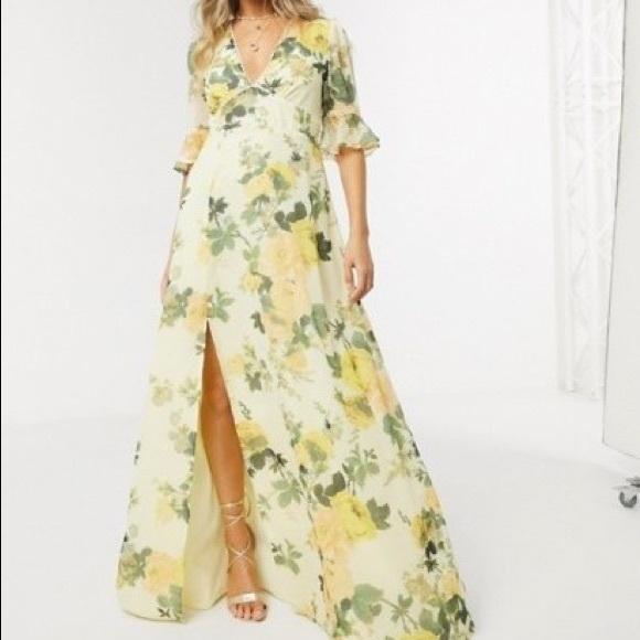 ASOS - Hope & Ivy Maxi Tea Dress